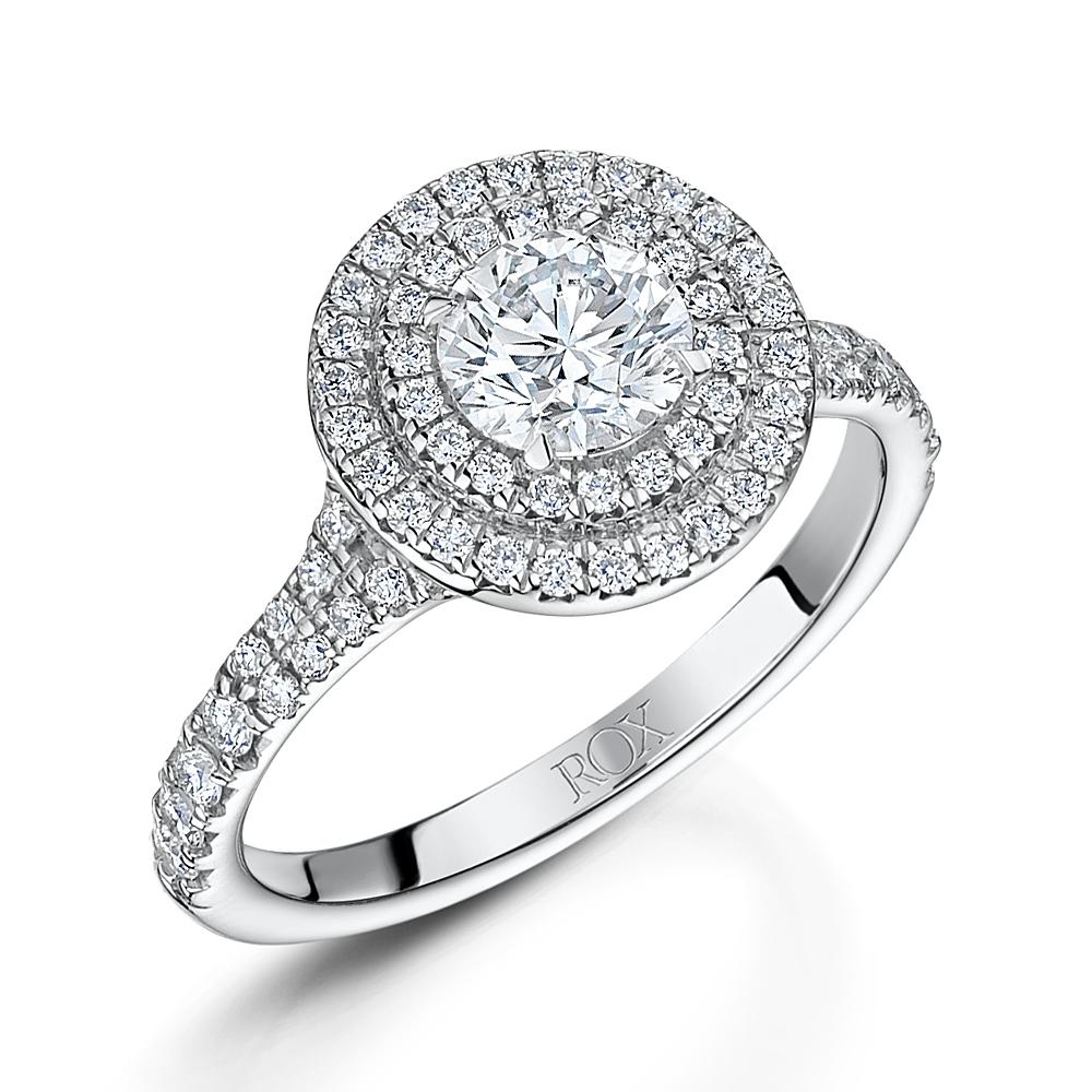 ROX Brilliant Diamond Double Halo Ring