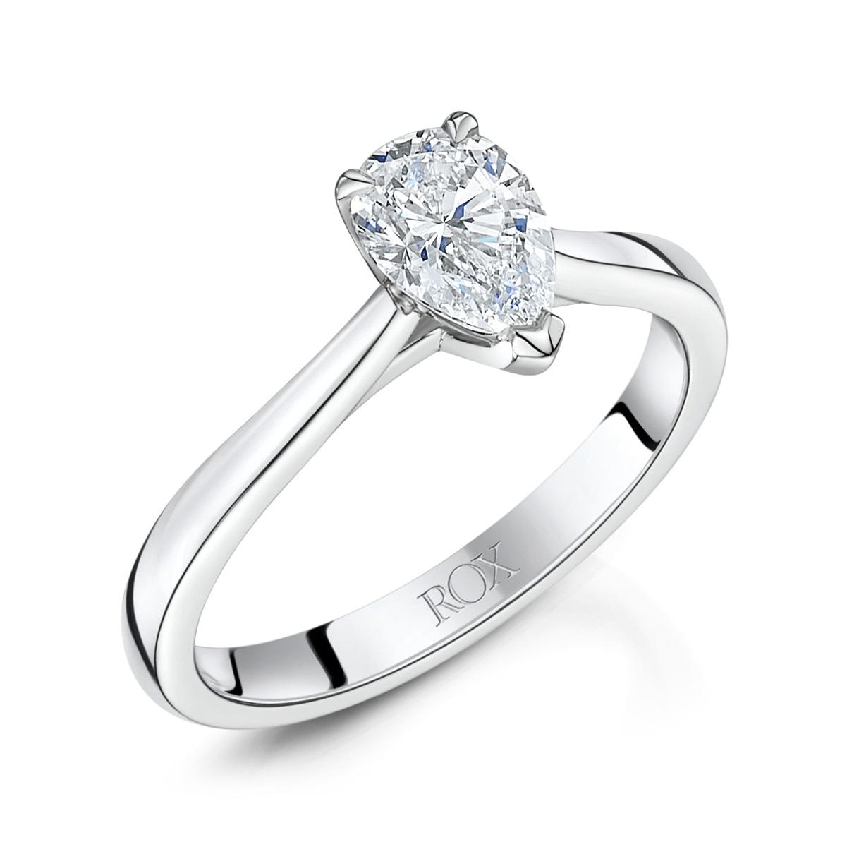 Honour Pear Cut Diamond Ring 0.72cts