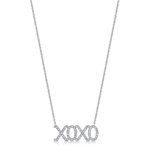 ROX Diamond 'XOXO' Necklace 0.15cts