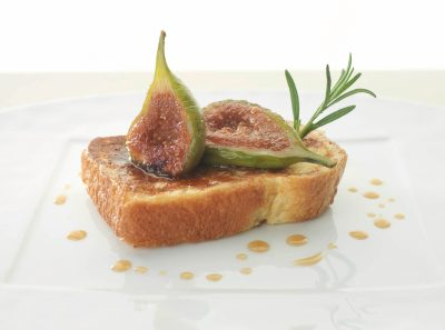 Roasted Figs with Rosemary on Pain Perdu