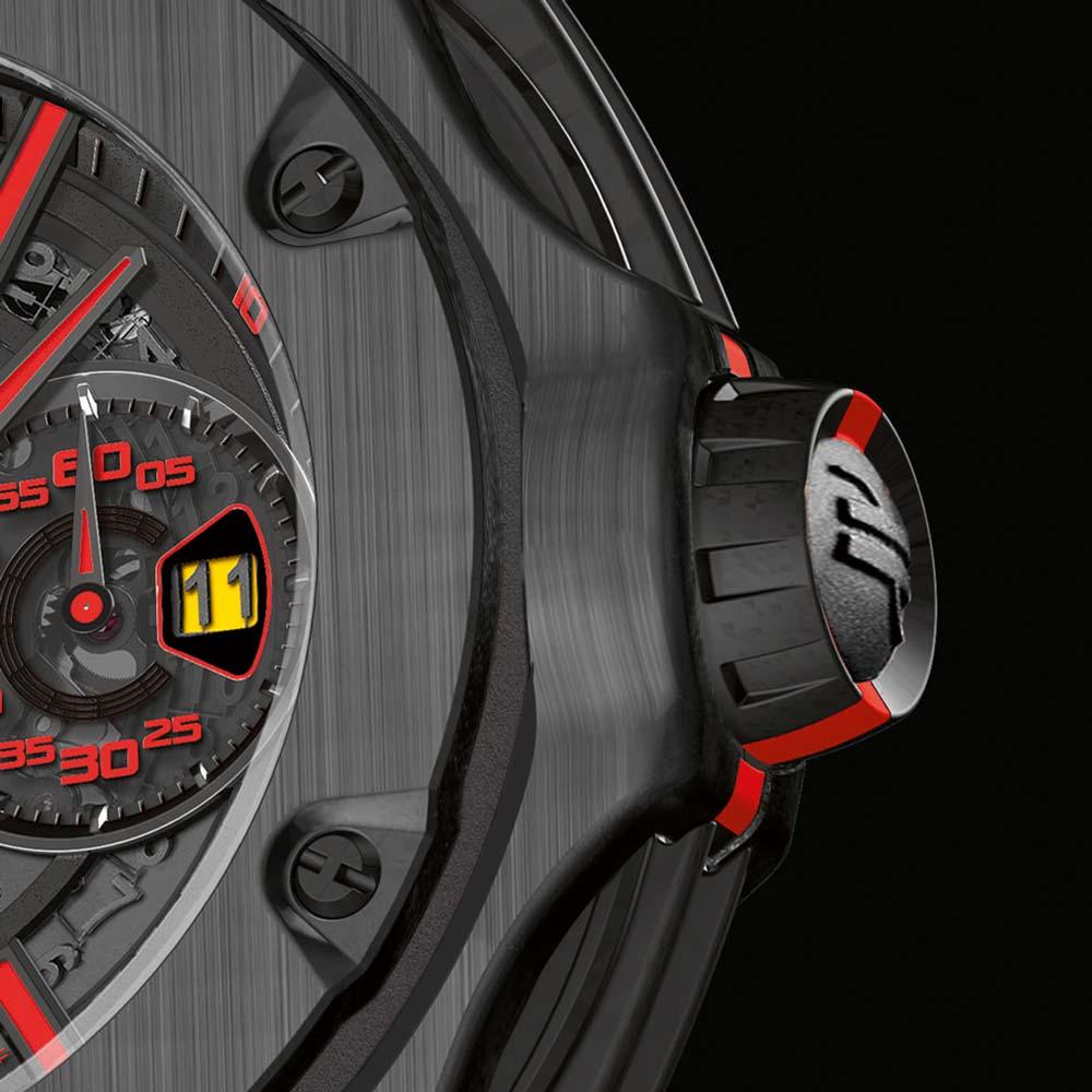 Hublot Big Bang Ferrari Carbon Crown