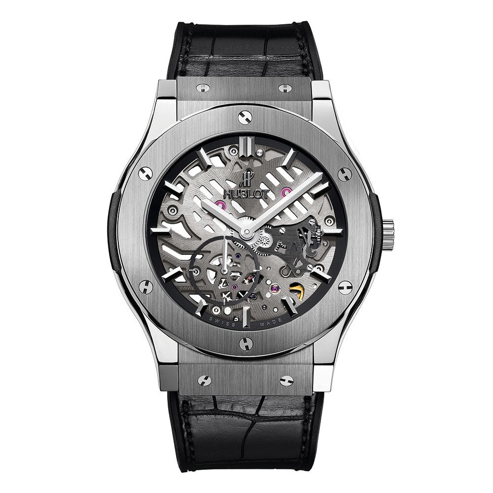 Hublot Classic Fusion Titanium Skeleton Watch 45mm