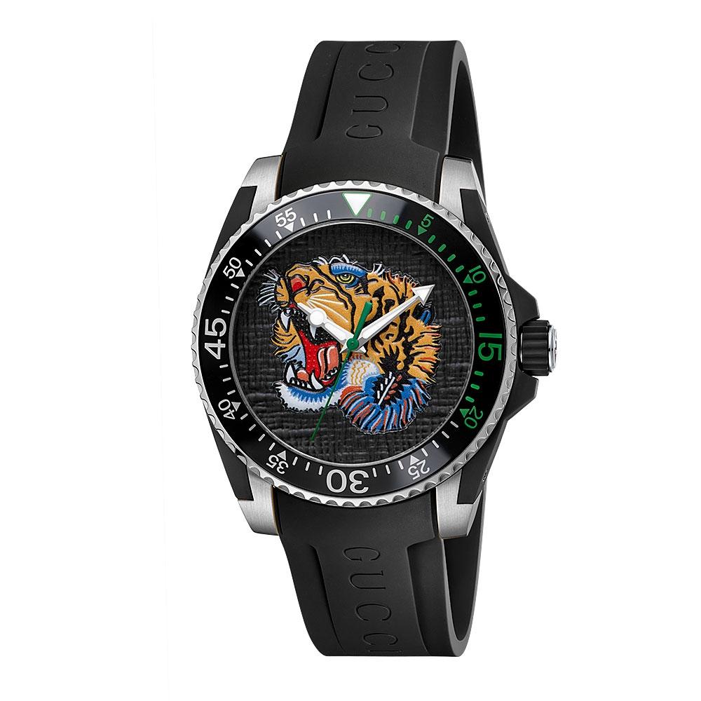 Gucci Dive Rubber Strap Watch