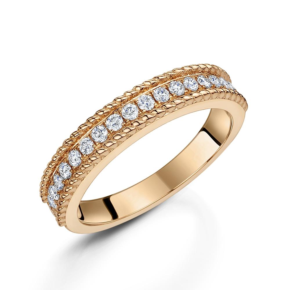 Rose Gold Diamond Stacking Ring