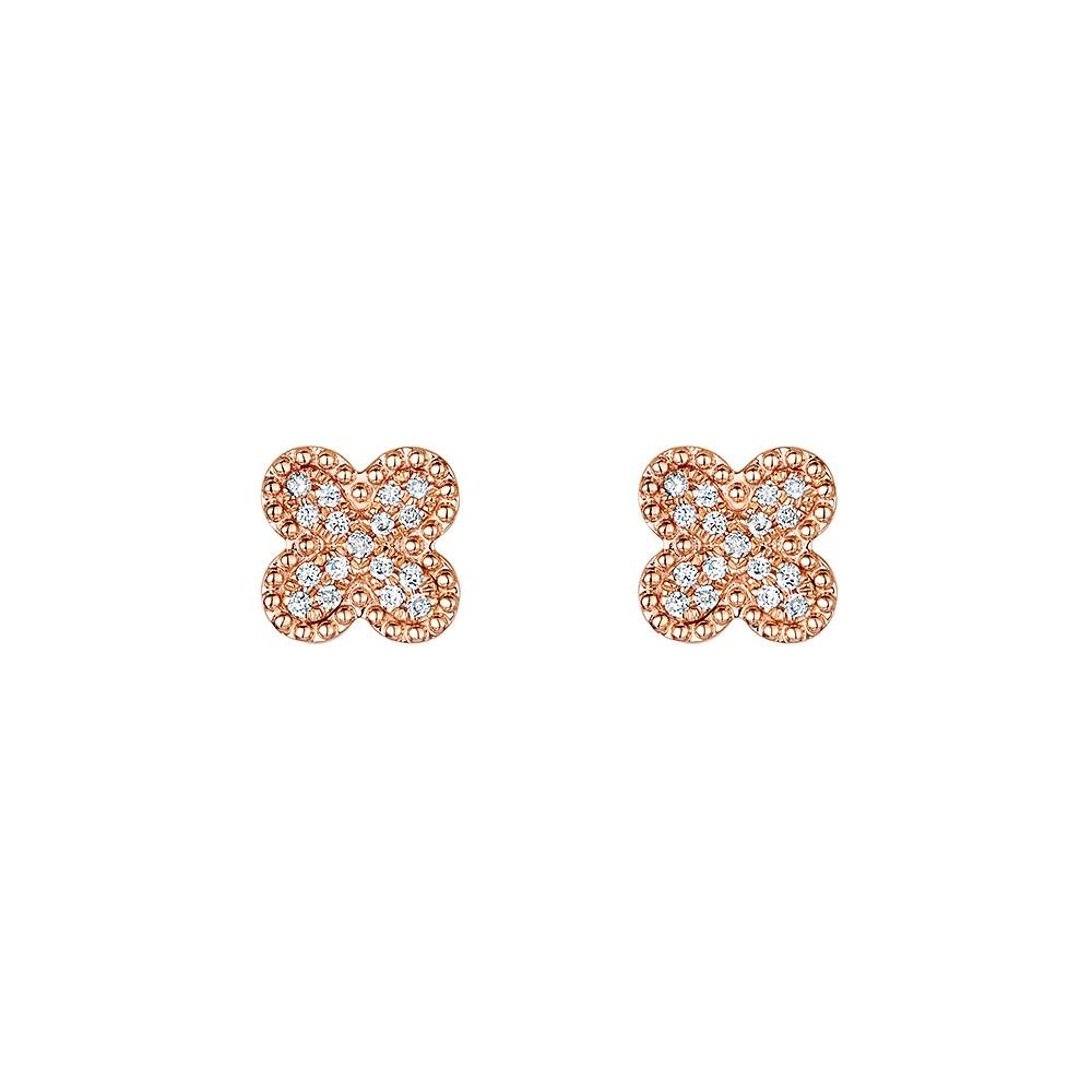 Rose Gold Miss ROX Diamond Earrings