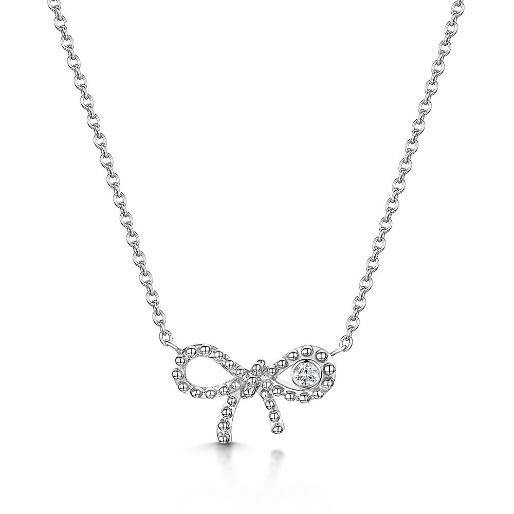 Miss ROX Diamond Bow Pendant