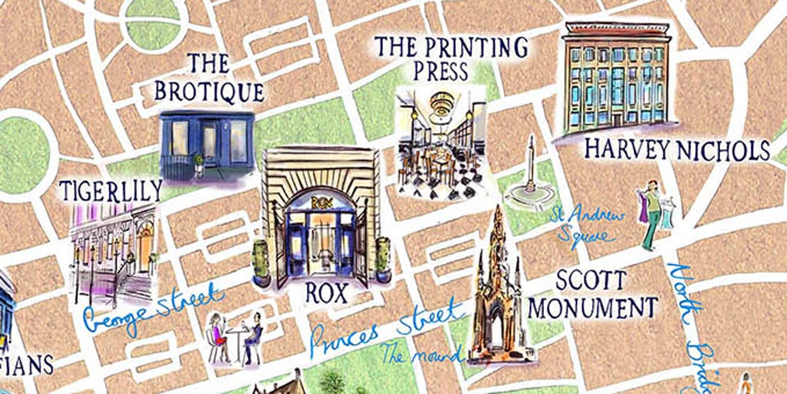 Edinburgh Perfect Proposal Guide Map