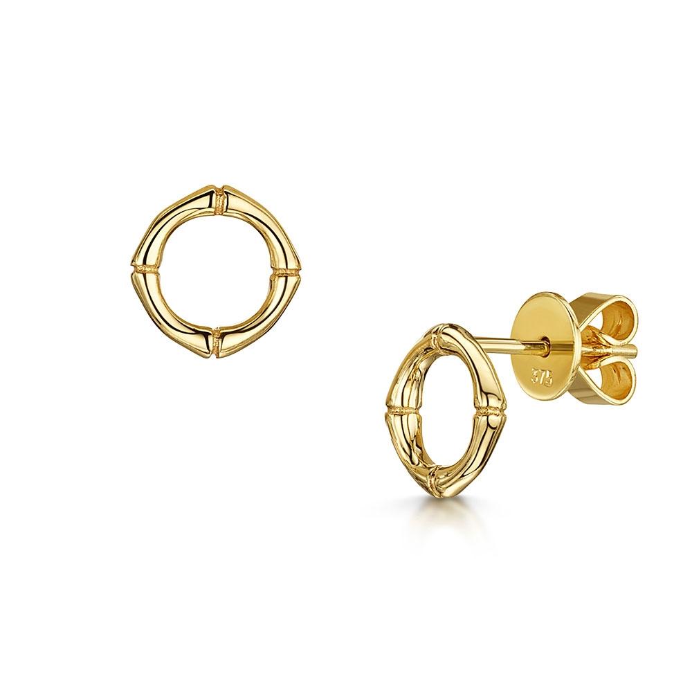 Bamboo Yellow Earrings