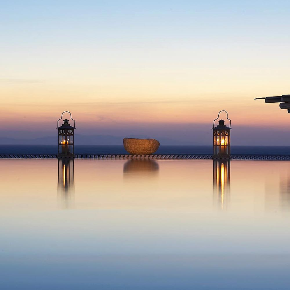 Mykonos Pool Sunset View