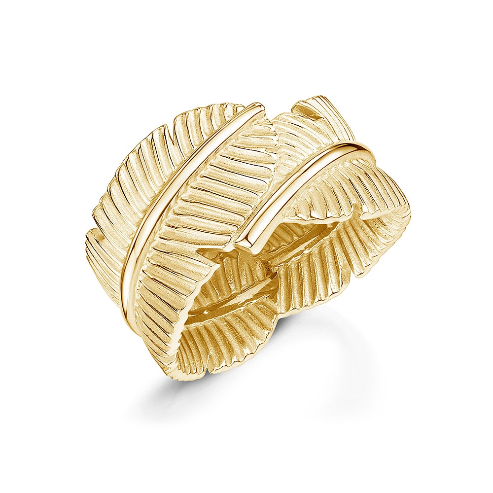 ROX Tiki Yellow Leaf Ring