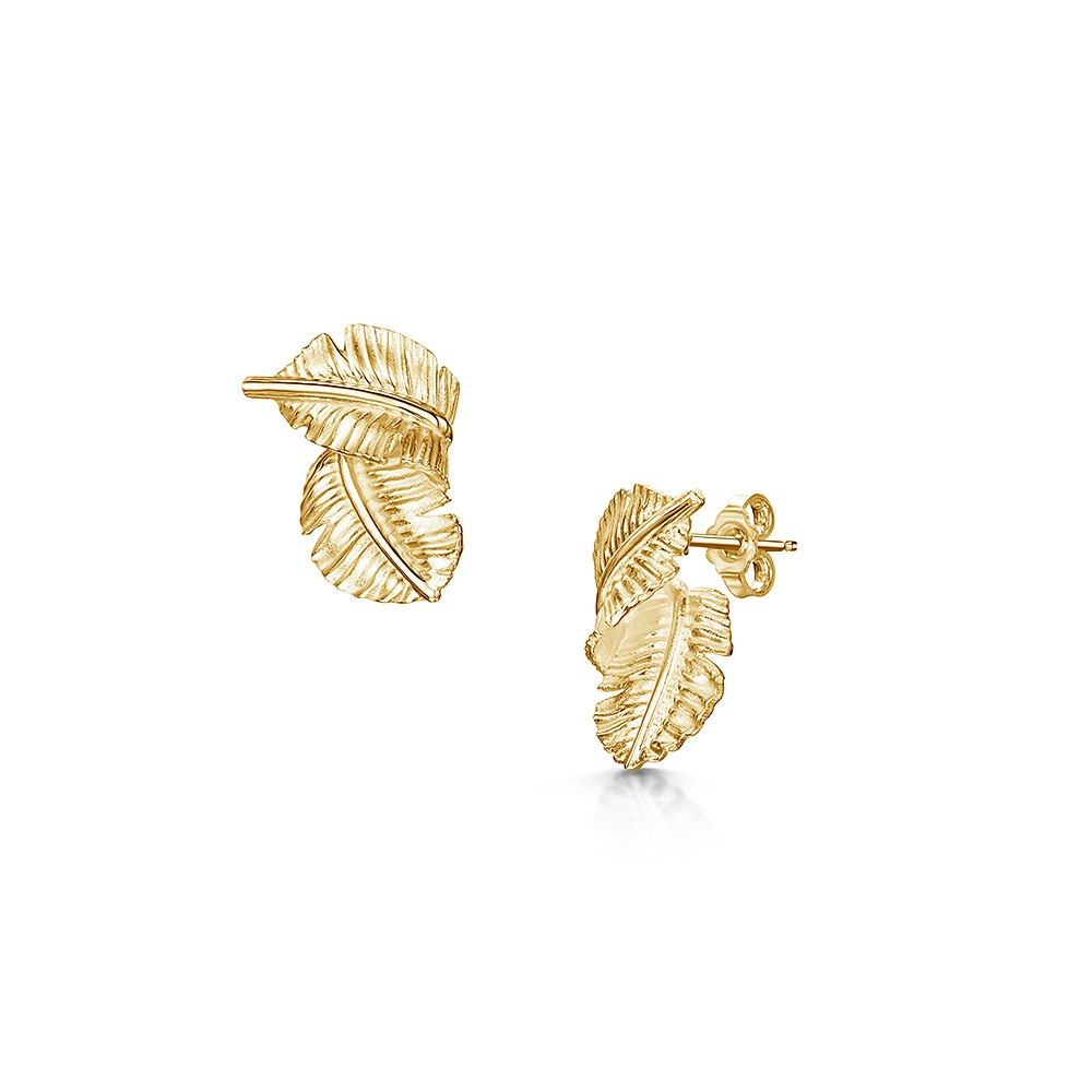 ROX Tiki Yellow Leaf Earrings