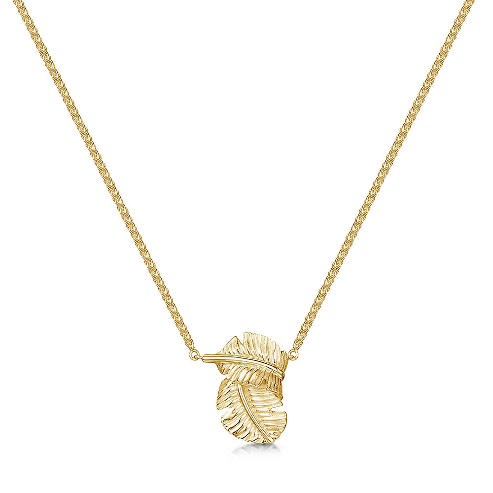 ROX Tiki Yellow Leaf Pendant