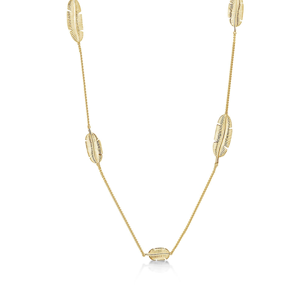 ROX Tiki Yellow Leaf Necklace