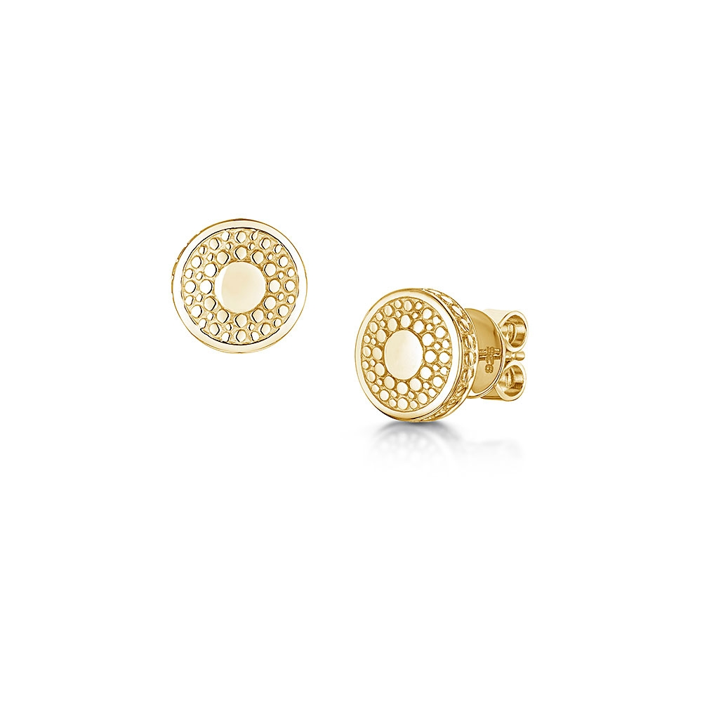 ROX Boho Yellow Stud Earrings