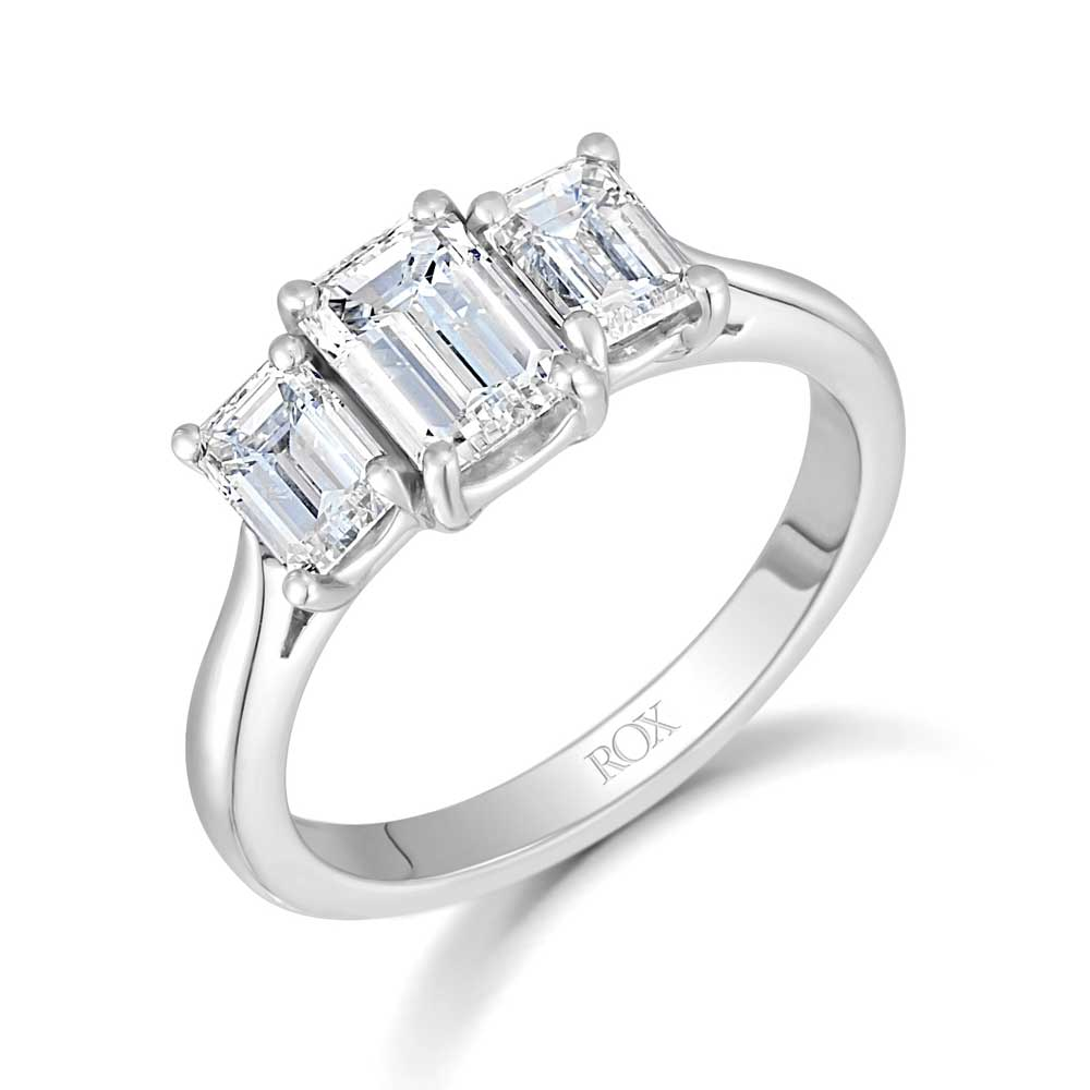 Classic Diamond Trilogy Ring 1.97cts