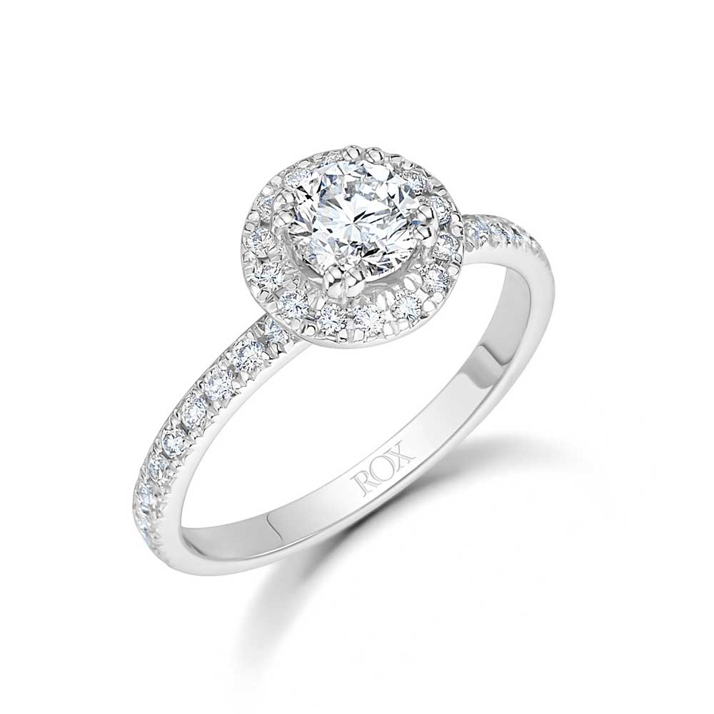 Brilliant Cut Diamond Halo Ring 1.35cts