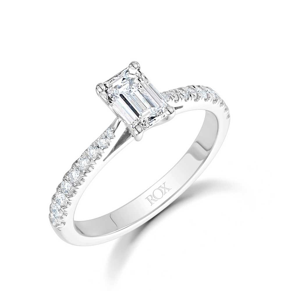 ROX Classic Emerald Diamond Ring