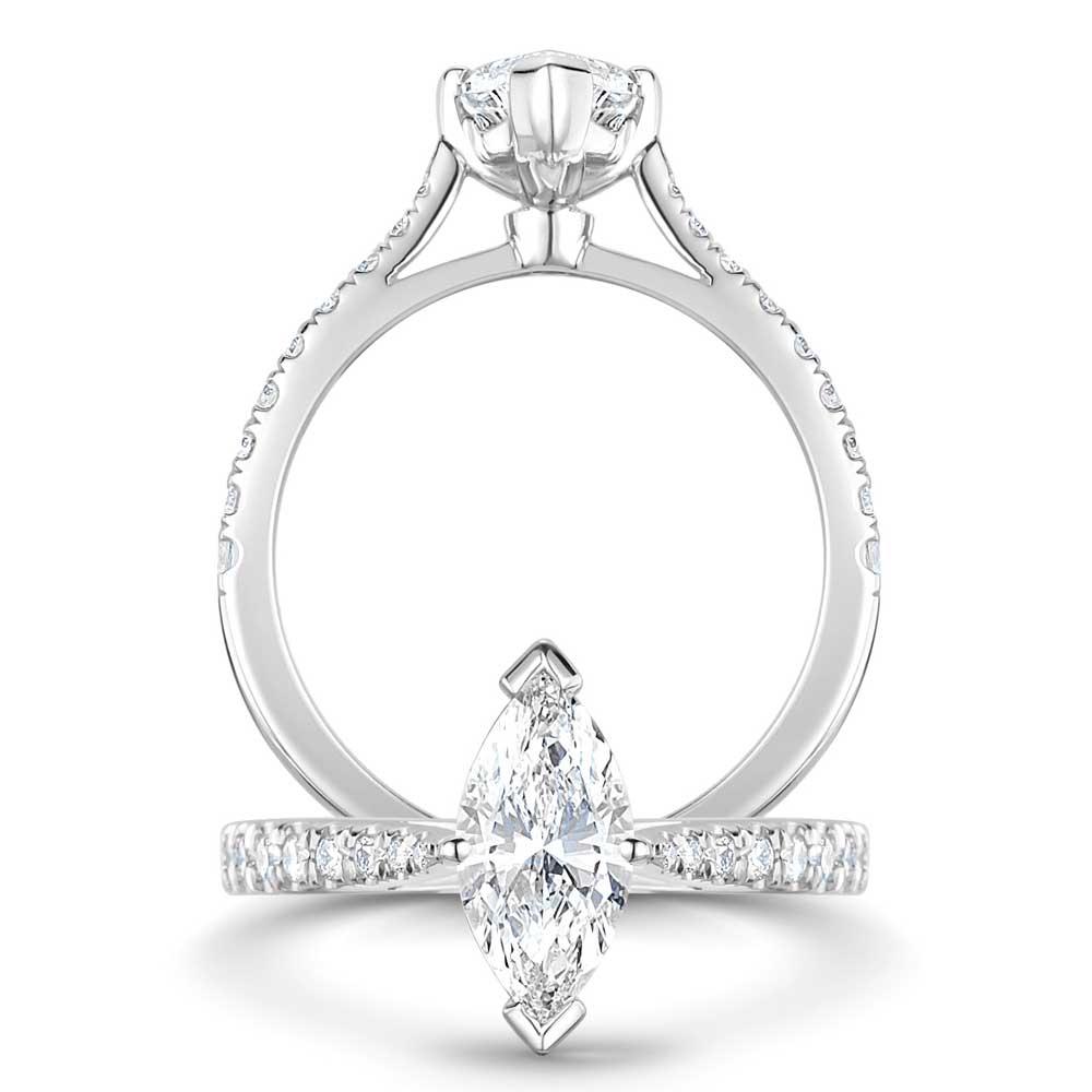 ROX Classic Marquise Diamond Ring