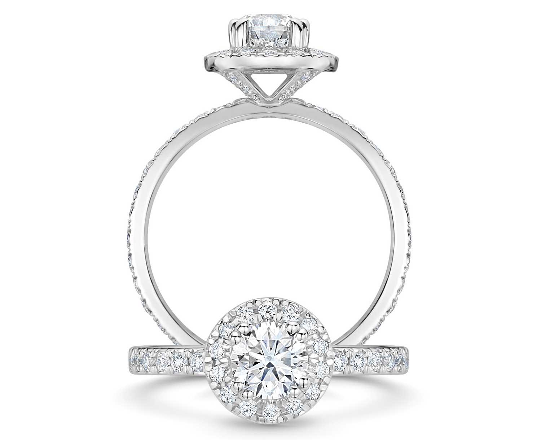 ROX Halo Brilliant Diamond Ring