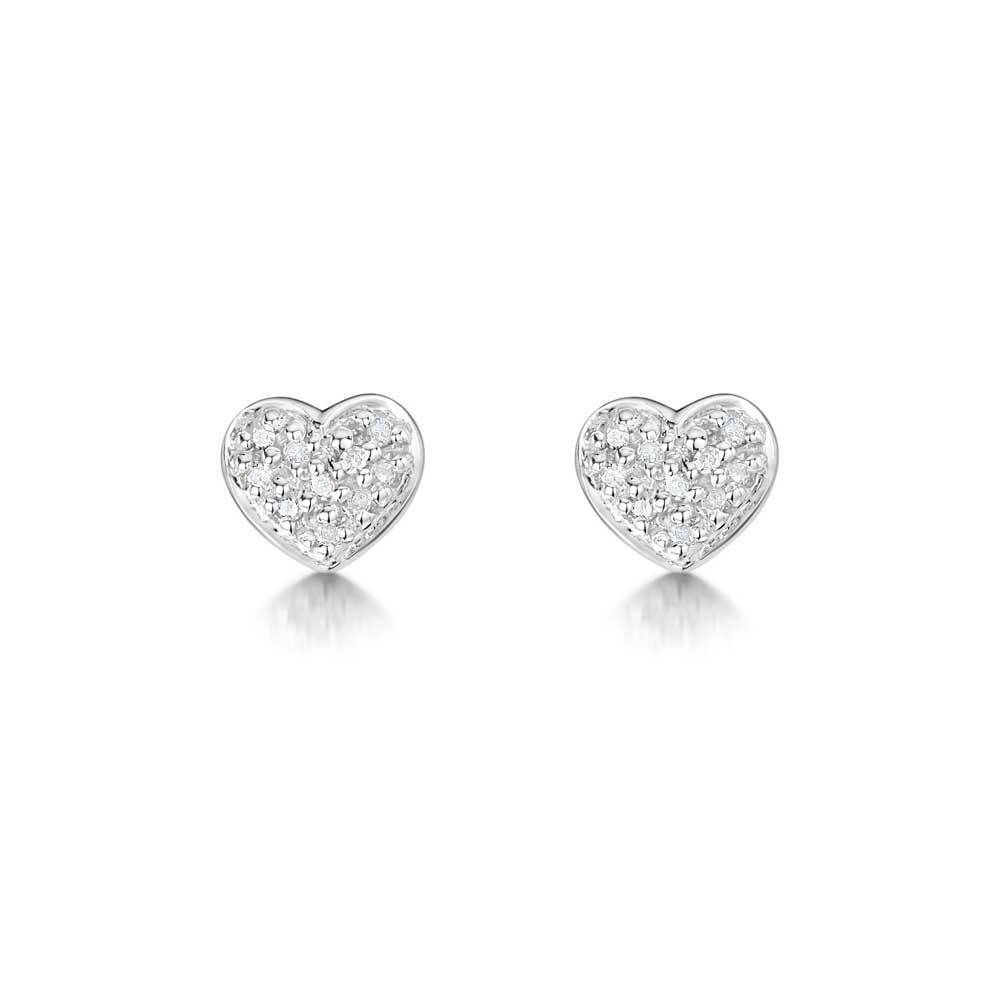 ROX Diamond Heart Earrings