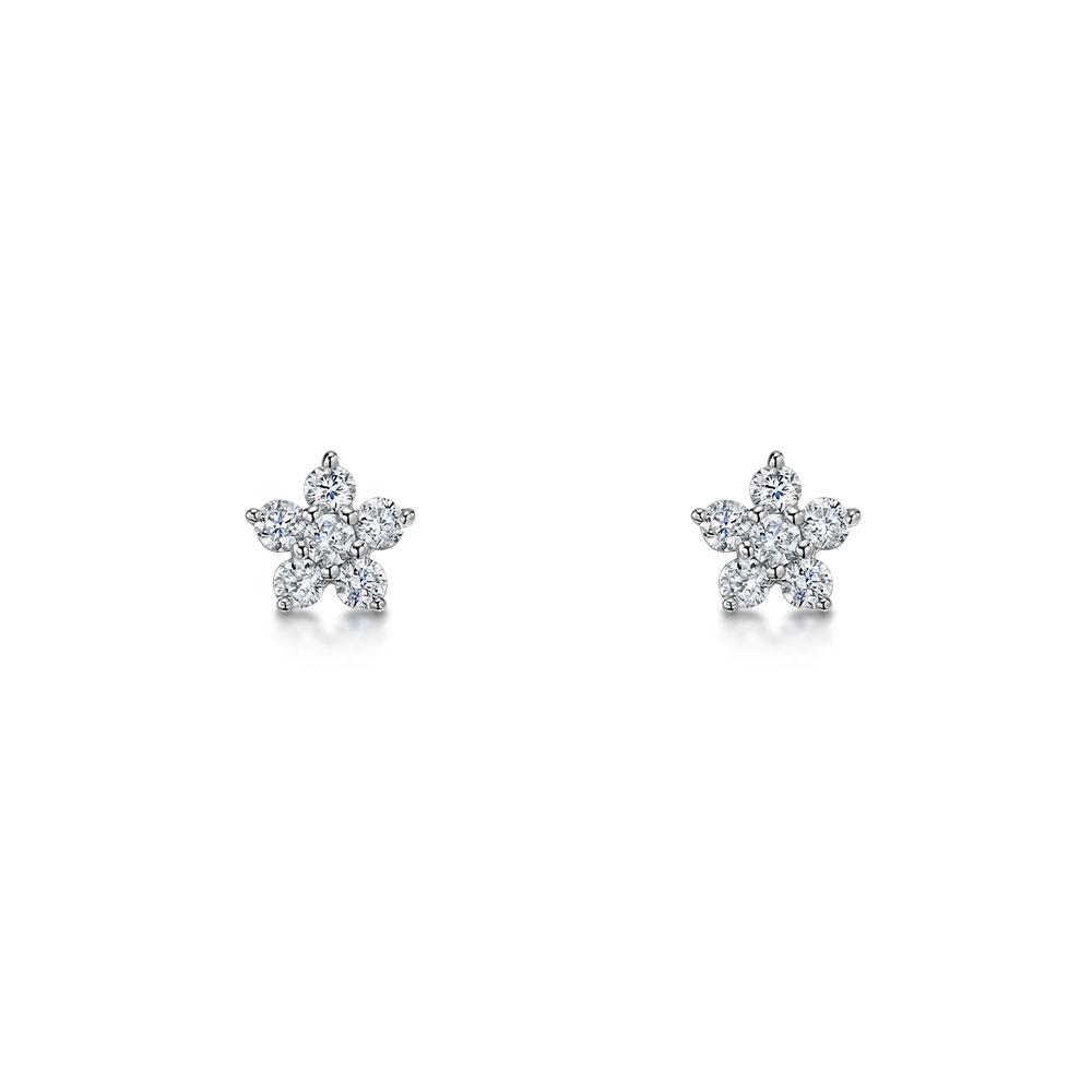 ROX Diamond Star Earrings 0.12cts
