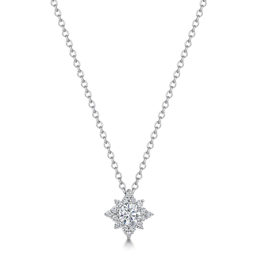 ROX Brilliant Diamond Star Necklace 0.56cts