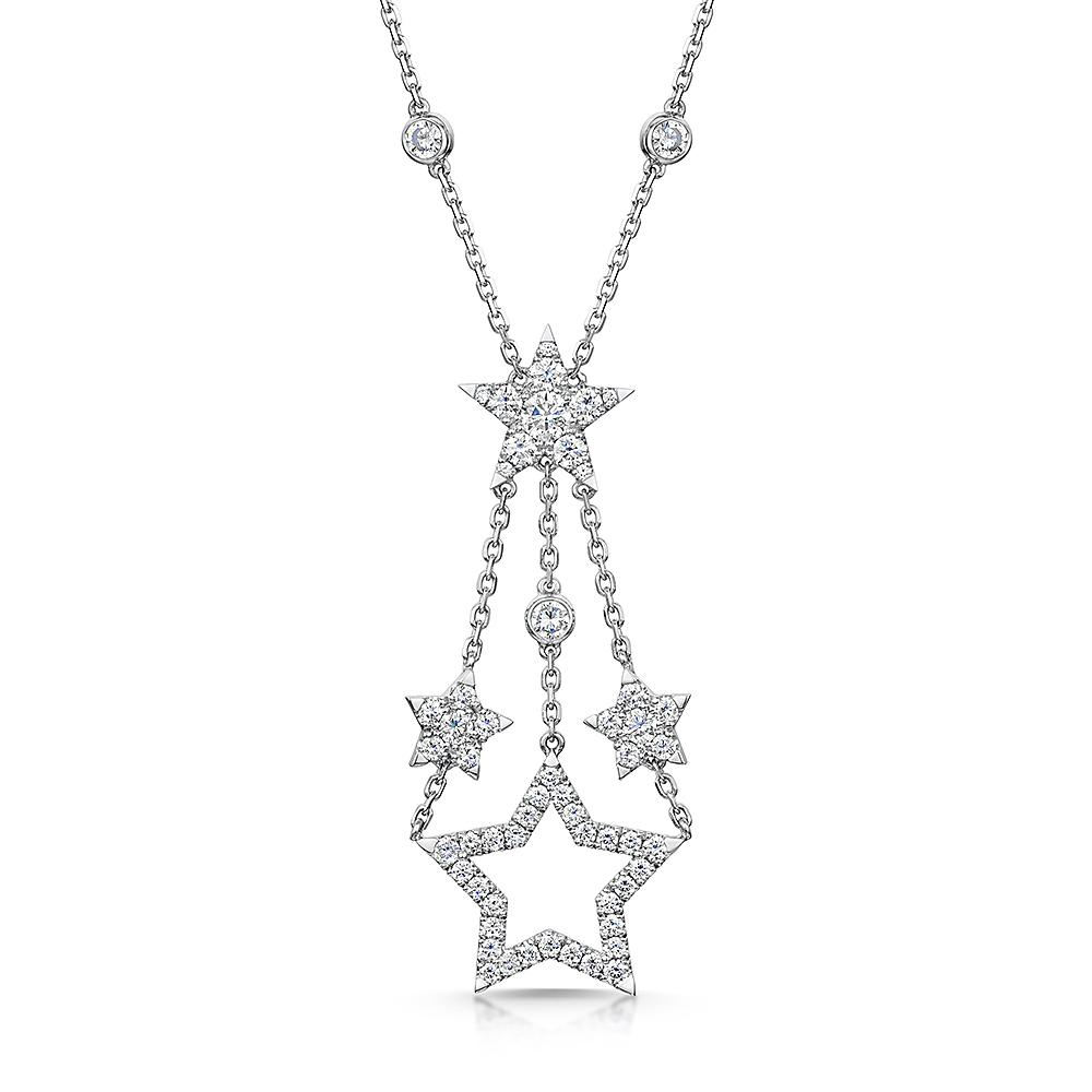 ROX Diamond Star Drop Pendant 1.06cts