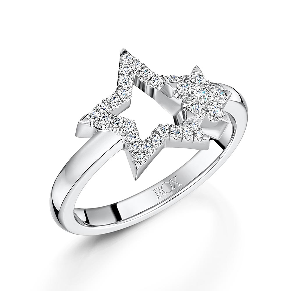 ROX Diamond Star Double Ring 0.18cts