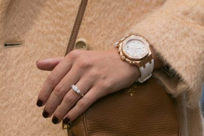 ROX Emerald Cut Engagement Ring & Audemars Piguet Watch