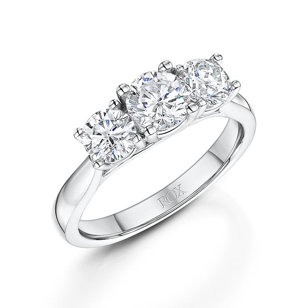 ROX Brilliant Cut Trilogy Diamond Ring 1.50cts