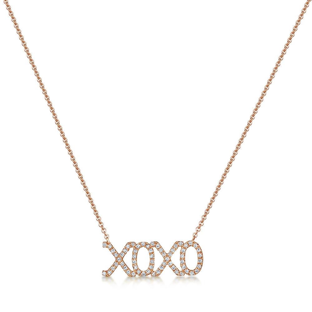 ROX Diamond 'XOXO' Pendant 0.12cts