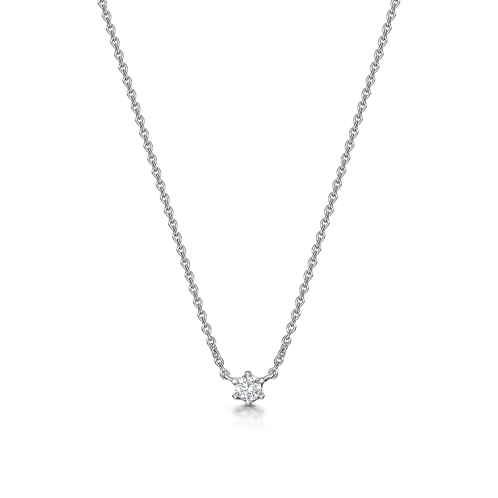 ROX Diamond Solitaire Necklace 0.08cts