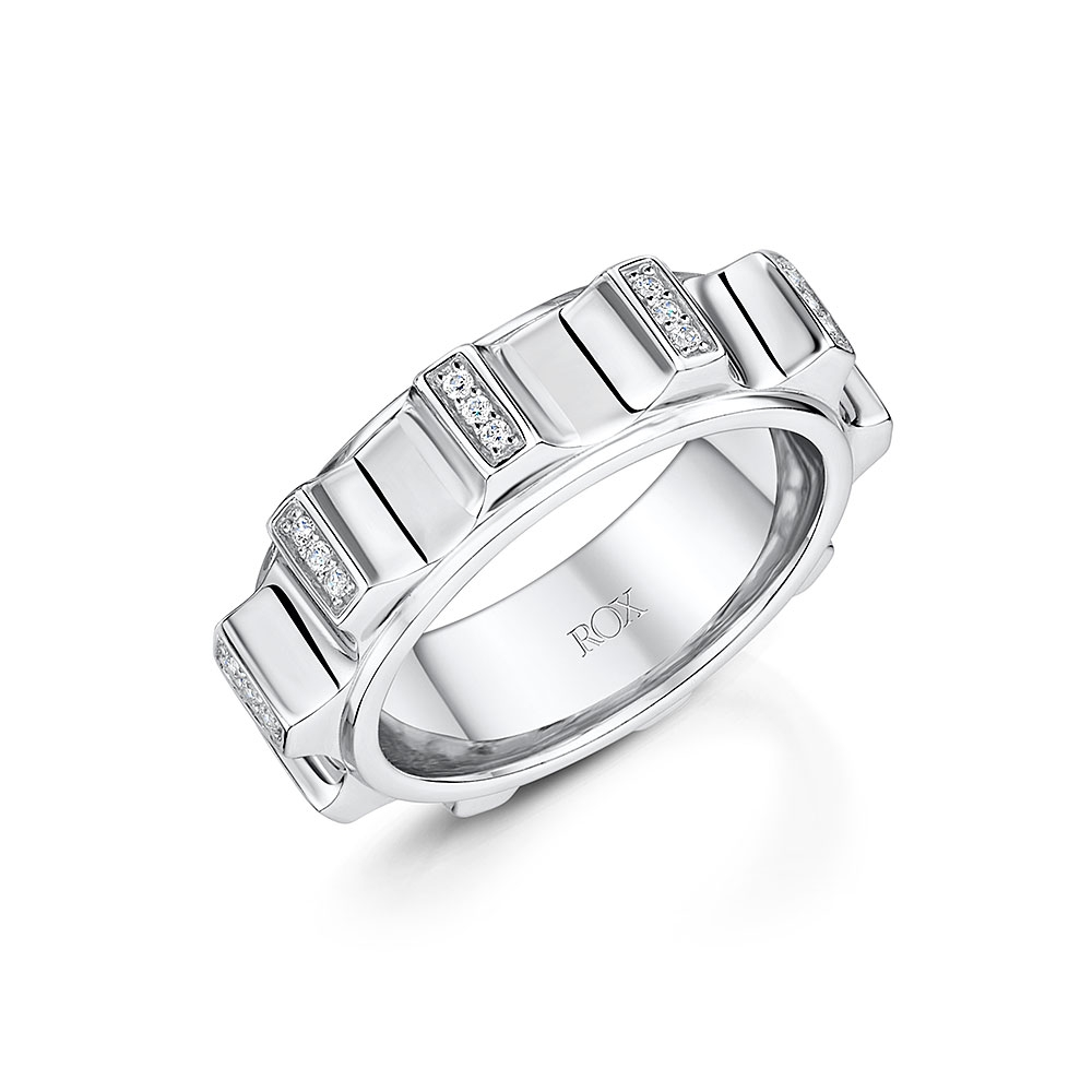 ROX Synchro Silver and CZ Ring