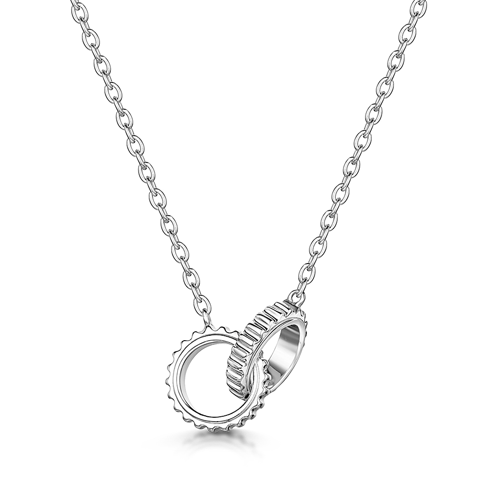 ROX Synchro Sterling Silver Linked Necklace