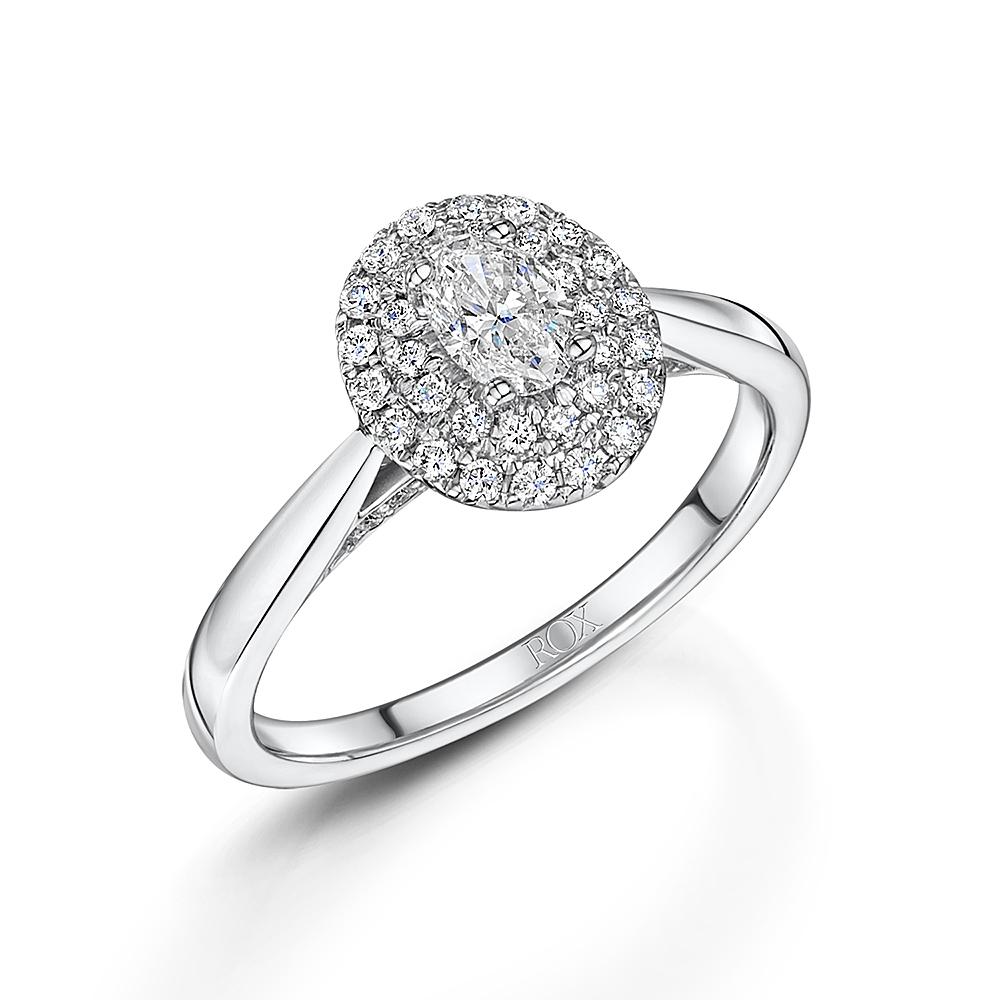 Oval Vintage Diamond Ring