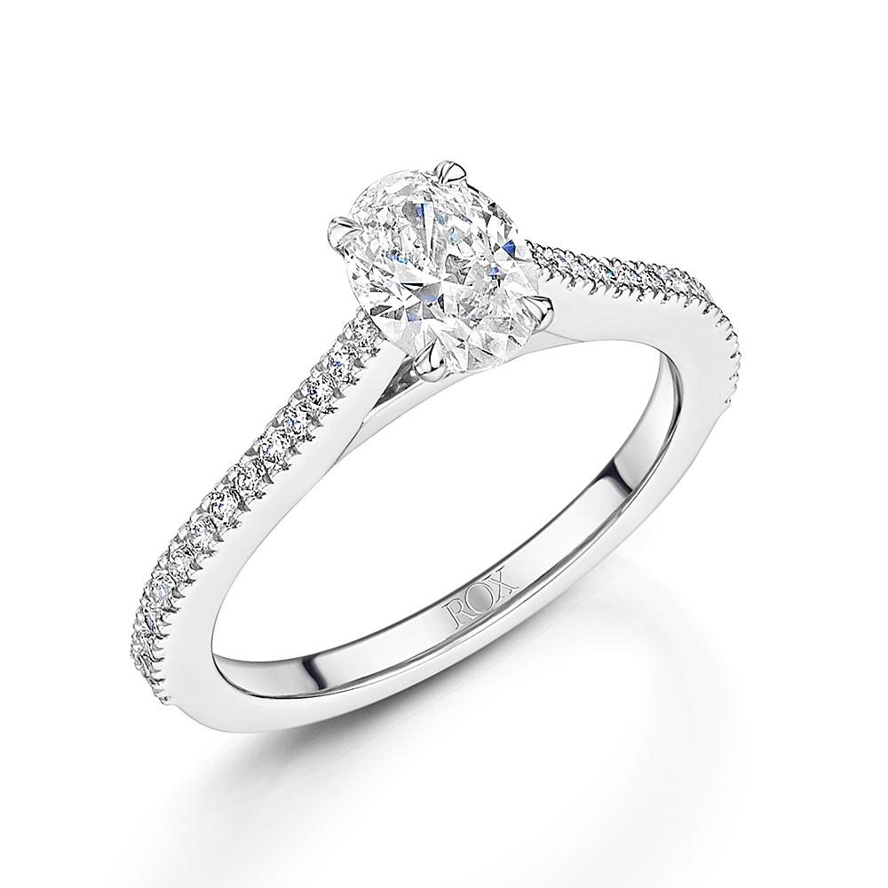 Love Oval Diamond Ring