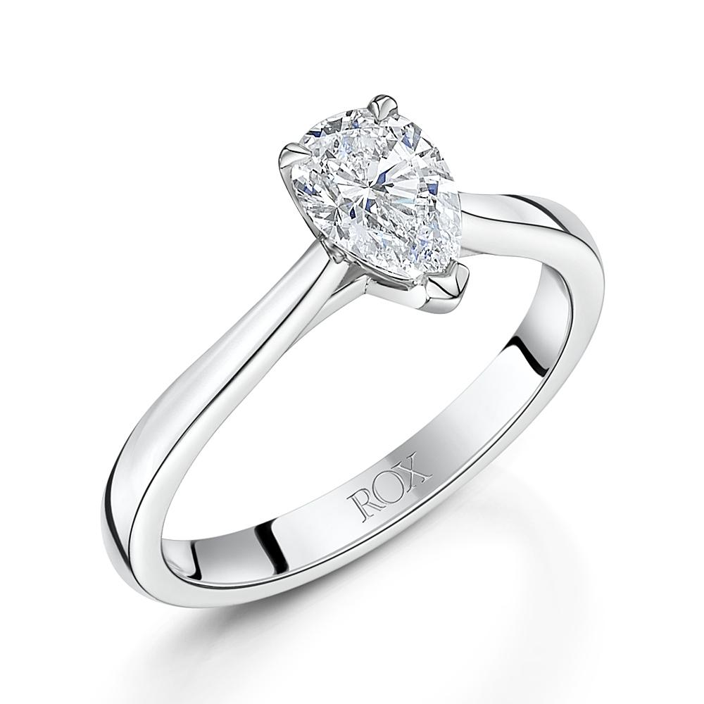 ROX Honour Pear Cut Solitaire Ring