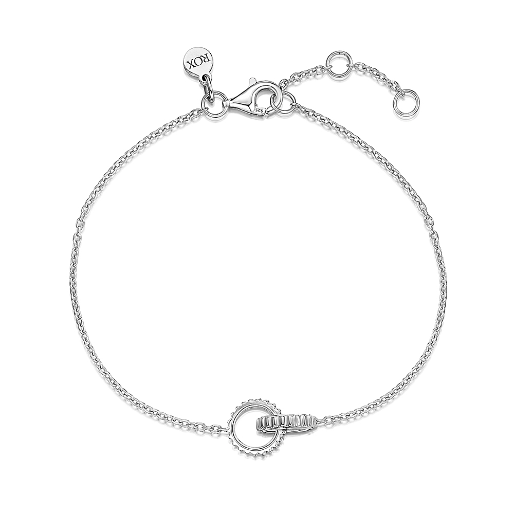 ROX Synchro Sterling Silver Linked Bracelet