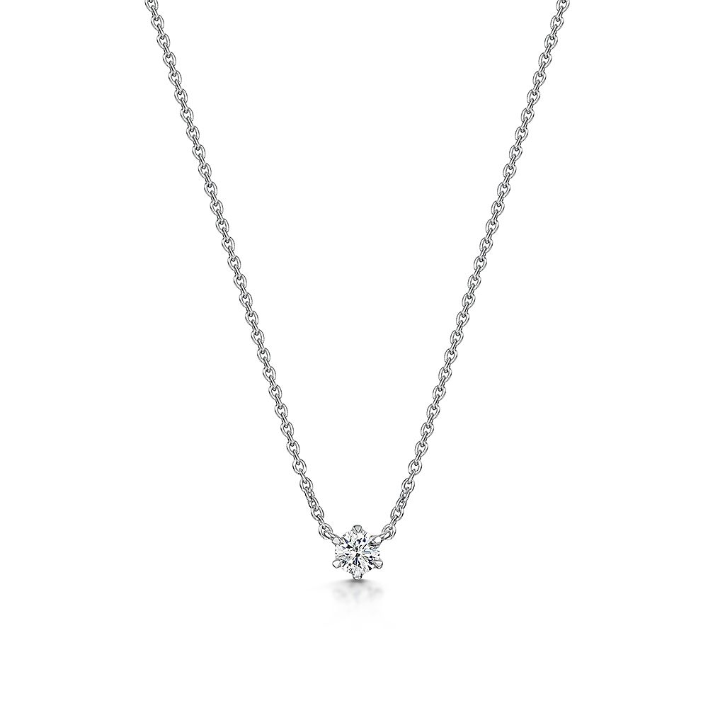 Diamond Solitaire Necklace 0.11cts