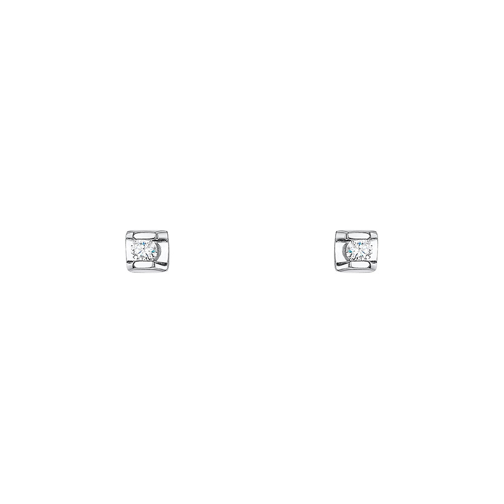 Classic Tension Diamond Earrings 0.06cts