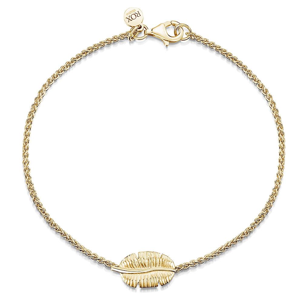 ROX Tiki Gold Vermeil Leaf Bracelet
