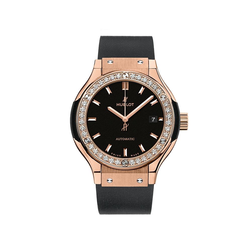Hublot Classic Fusion King Gold Diamond Watch