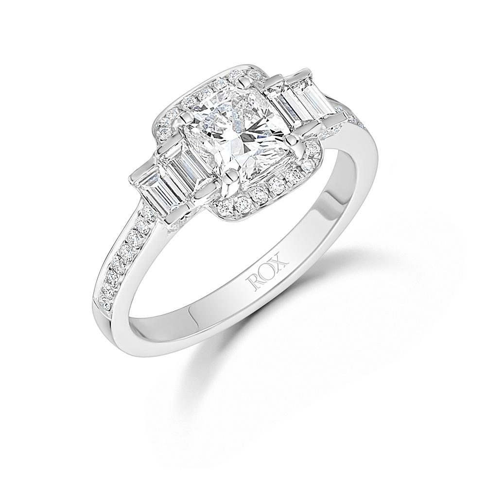Cushion Diamond Halo Ring 1.75cts