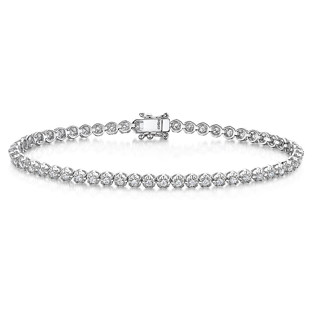Classic Diamond Tennis Bracelet 0.95cts