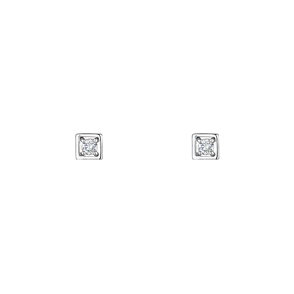 Classic Diamond Earrings 0.08cts