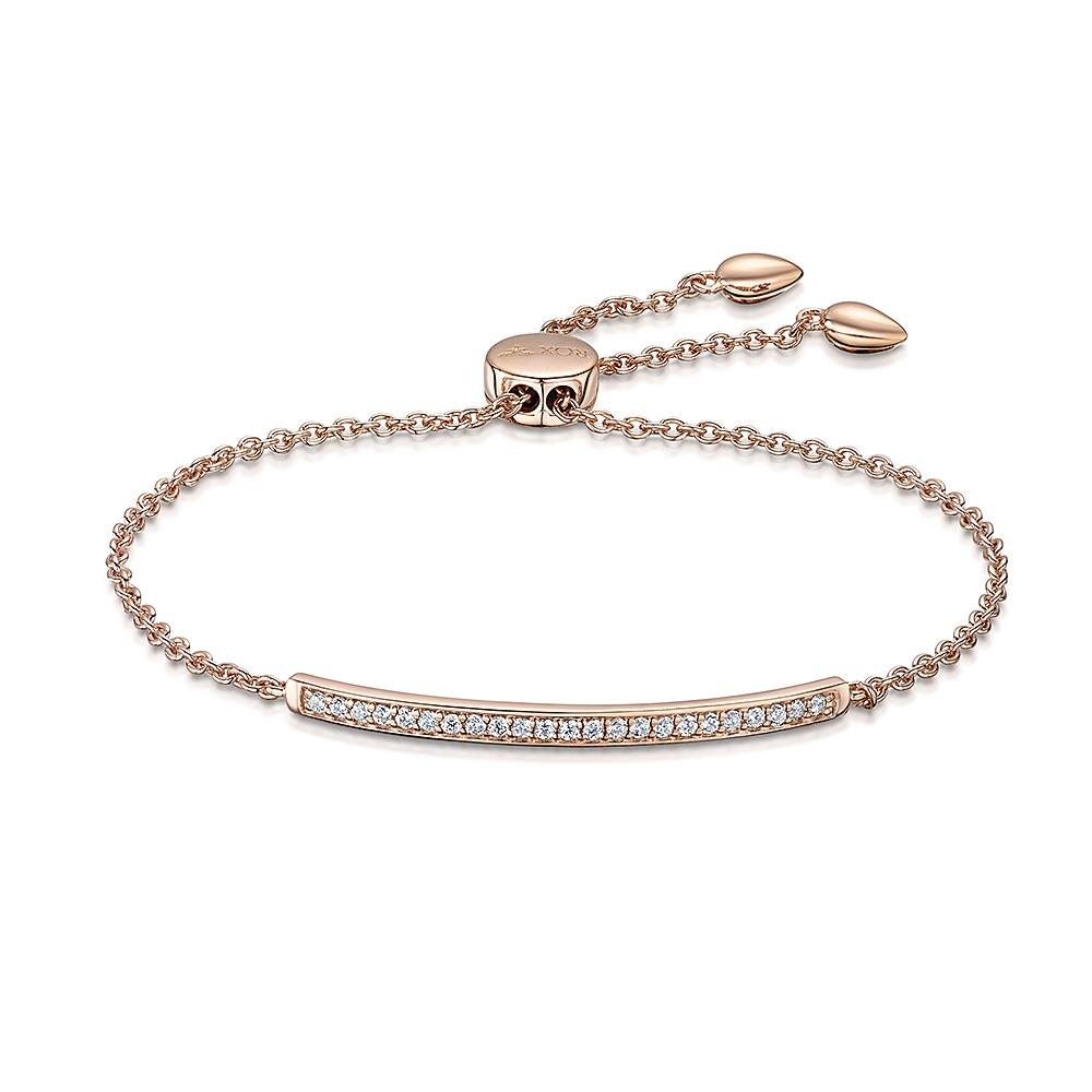 ROX Classic Rose CZ Bar Toggle Bracelet