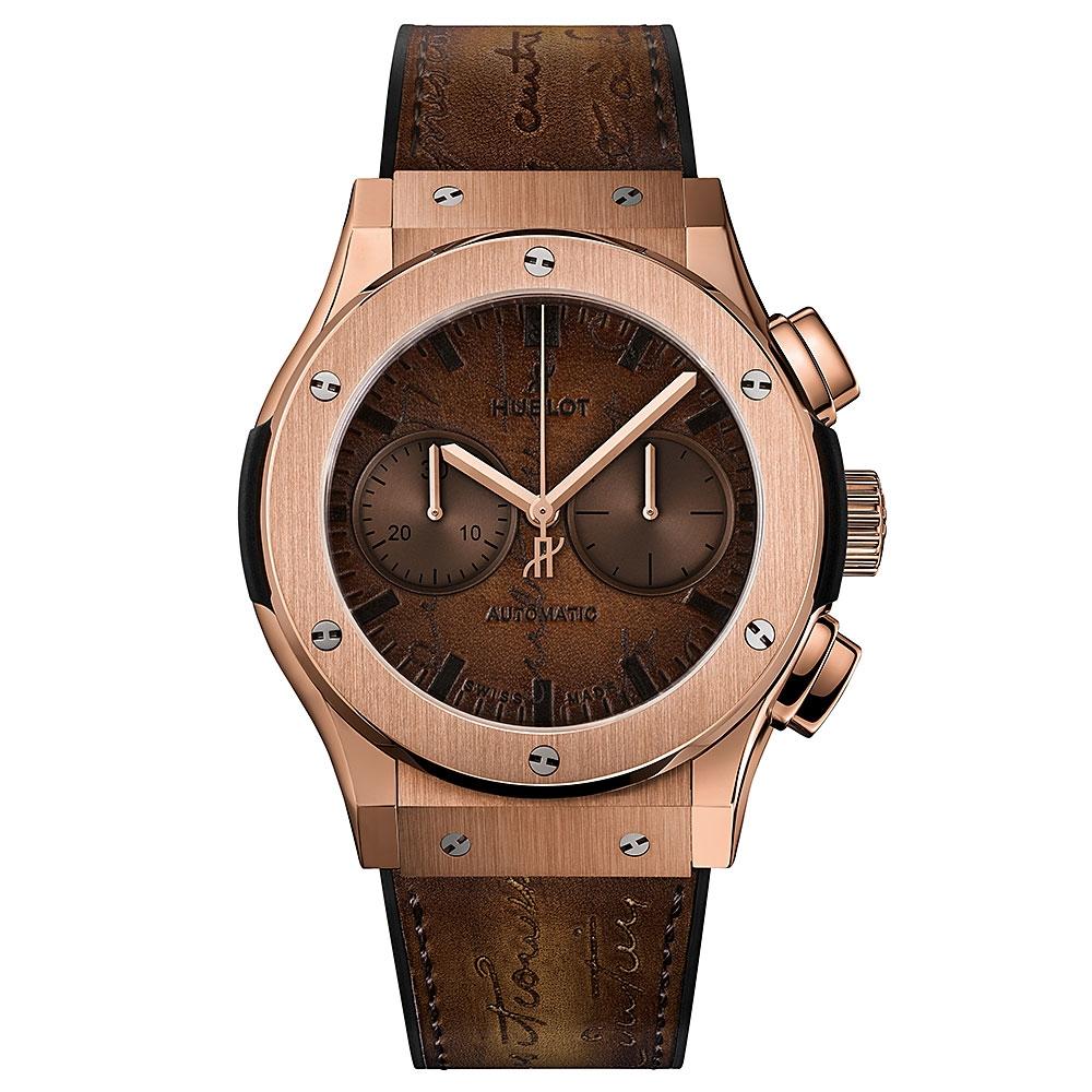 Hublot Classic Fusion Berluti Scritto Gold Watch