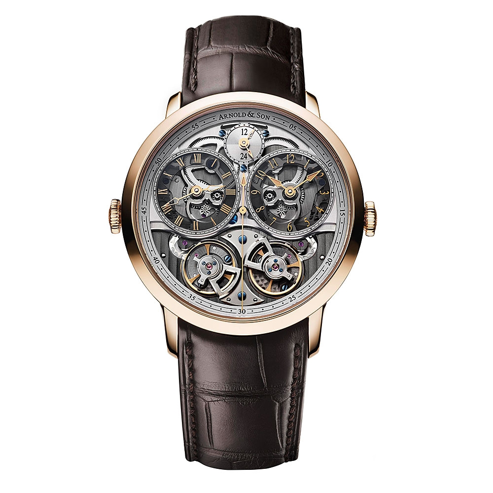 Arnold & Son DBG Skeleton Rose Gold Watch