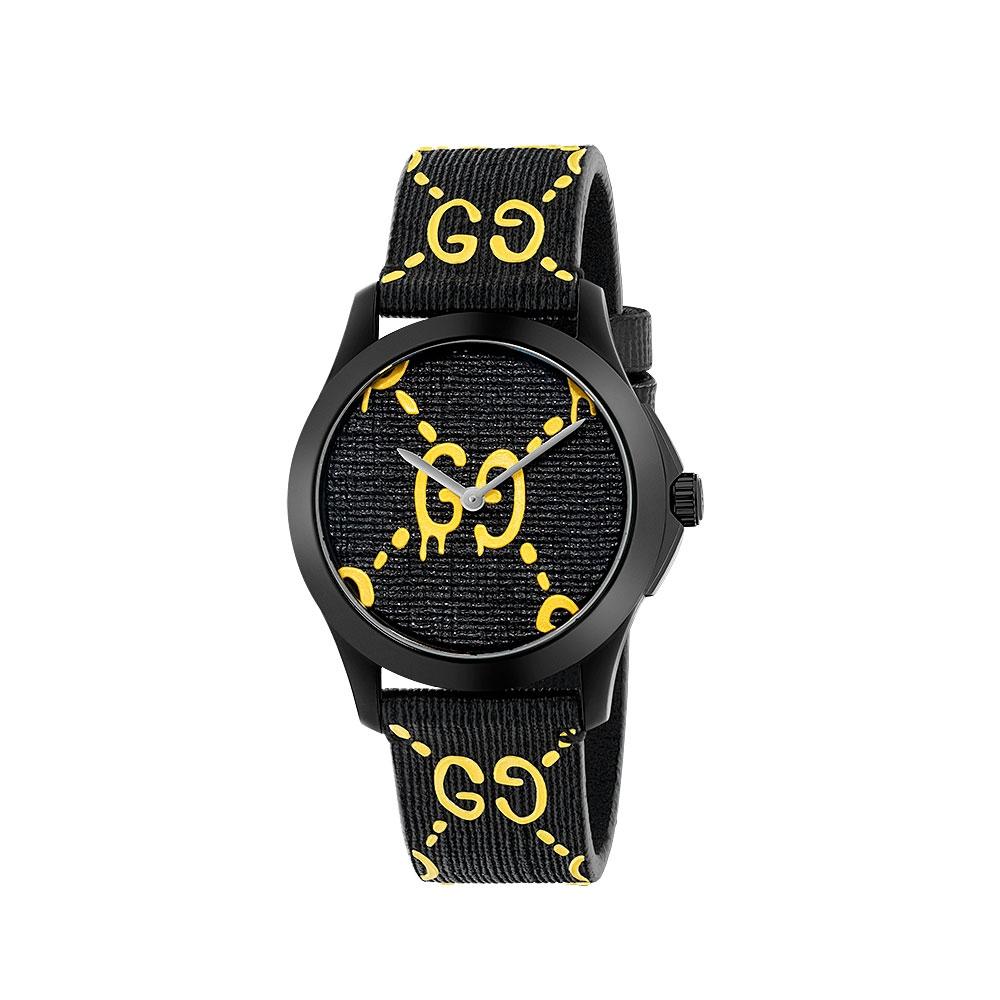 Gucci G-Timeless Ghost Black Strap Watch YA1264019