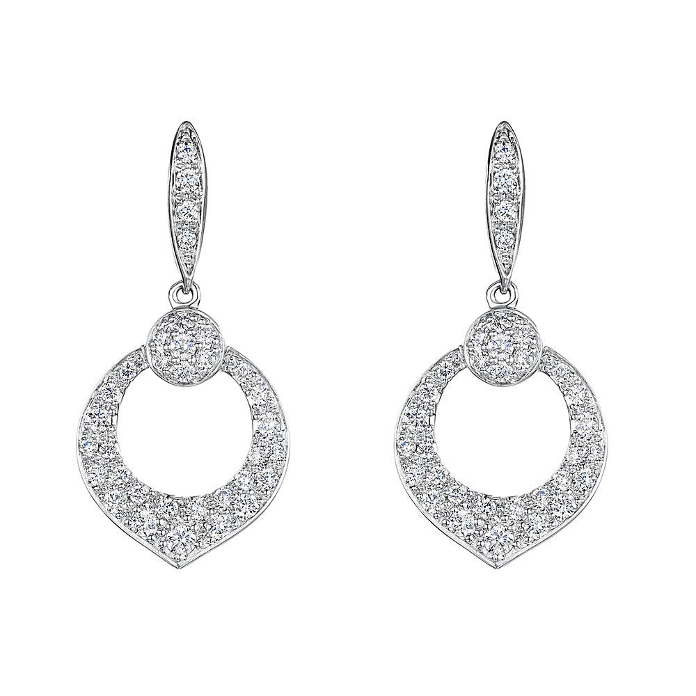Diamond Drop Earrings 0.56cts